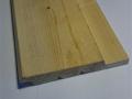 Utvändigfalspanel i gran med klyvyta 21x145